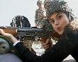 Preity Zinta  holding gun