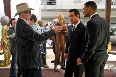 Will Smith and Barry Sonnenfeld in Men in Black 3 Pic