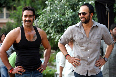 Ajay Devgn Rohit Shetty Bol Bachchan on Sets Photo