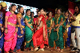 Vidya Balan posing with lavani dancers at the launch of lavani song Mala Jau De from FERRARI KI SAWAARI at Rangsharda Auditorium in Mumbai Pic