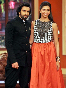 Deepika Padukone with Ranveer Singh promoting RAM LEELA on Comedy Nights With Kapils