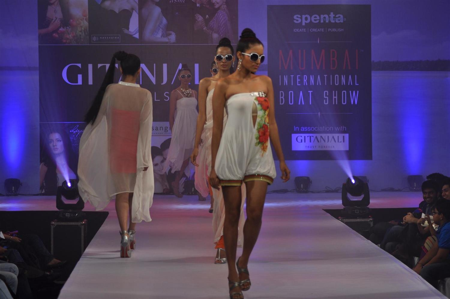 Indian Models Walking The Ramp At The Fashion Show At