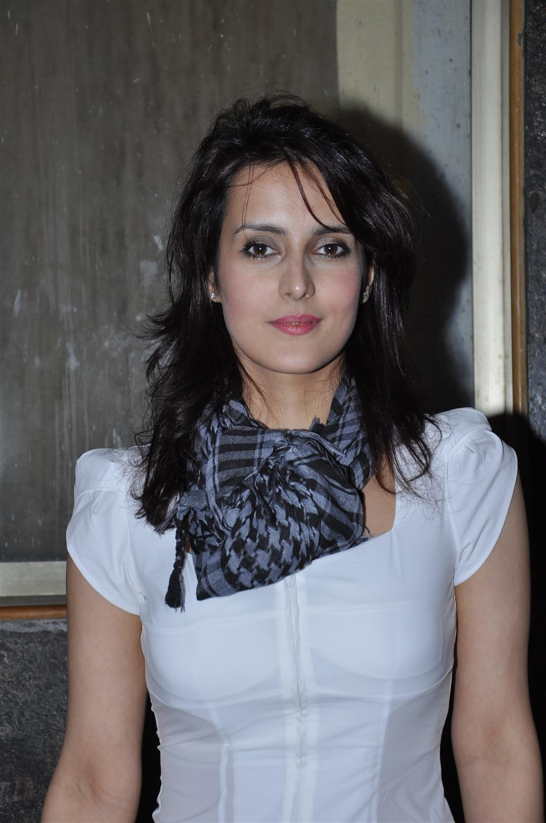 White Indian beauty Tulip Joshi