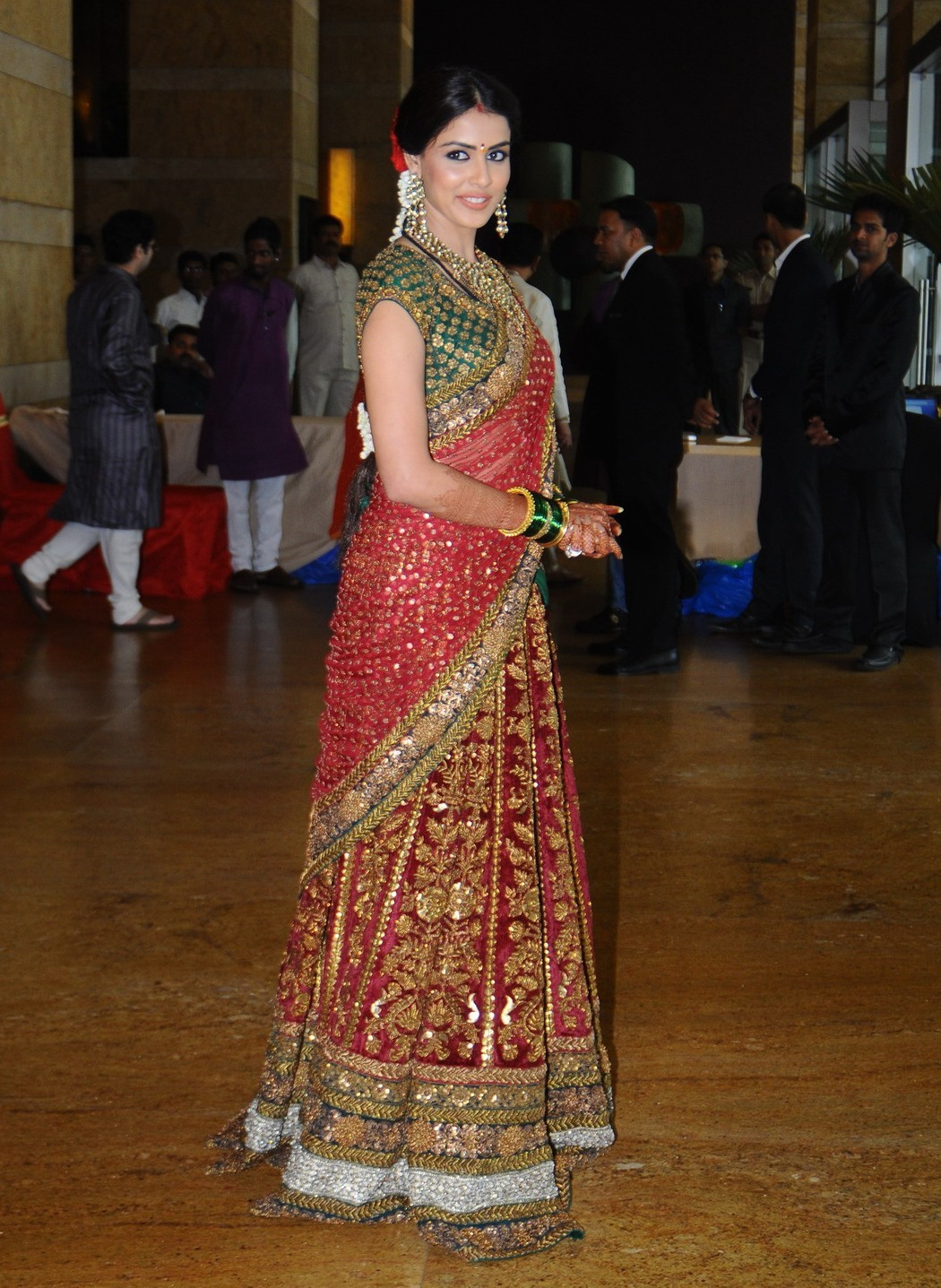 Genelia Deshmukh At The Wedding Ceremony Of Dheeraj And Honey Bhagnani In Mumbai