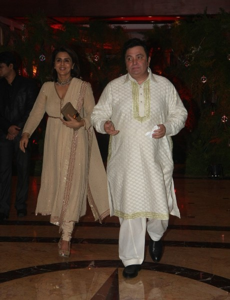 Rishi Kapoor Neetu Singh at Wedding Sangeet Ceremony of ...