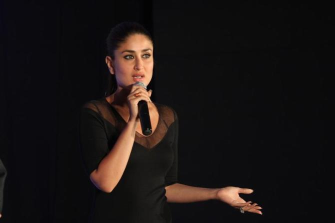 Kareena Kapoor interacting with the media at the launch of new range of SONY VAIO laptops photo