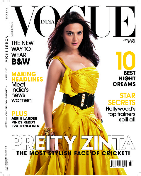 Preity Zinta vogue magazine cover