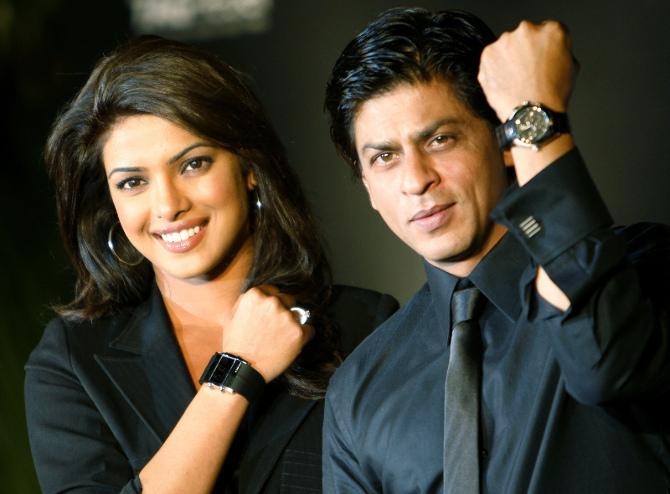 priyanka chopra and shah rukh khani