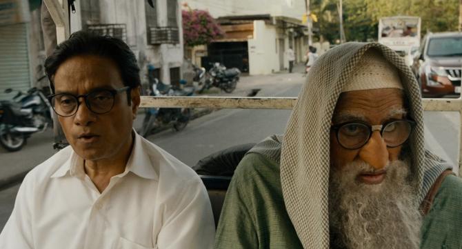Amitabh Bachchan and Brijendra Kala starrer Gulabo Sitabo Hindi Movie Photos  49