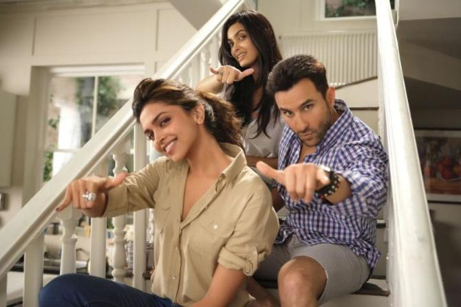 Saif Ali Khan Diana Penty and Deepika Padukone in Cocktail Movie Photos