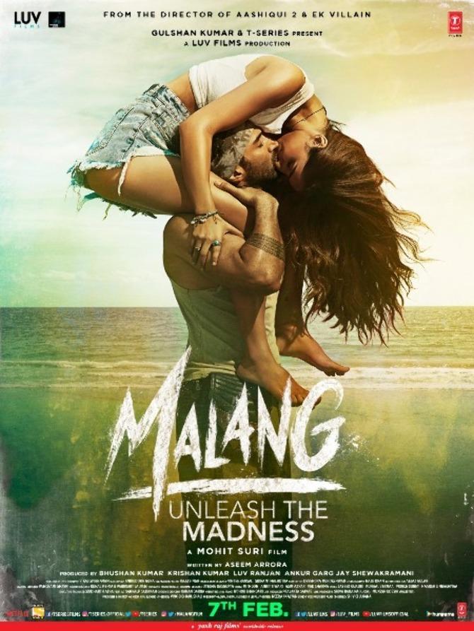 Disha Patani  Aditya Roy Kapur starrer Malang Movie Poster