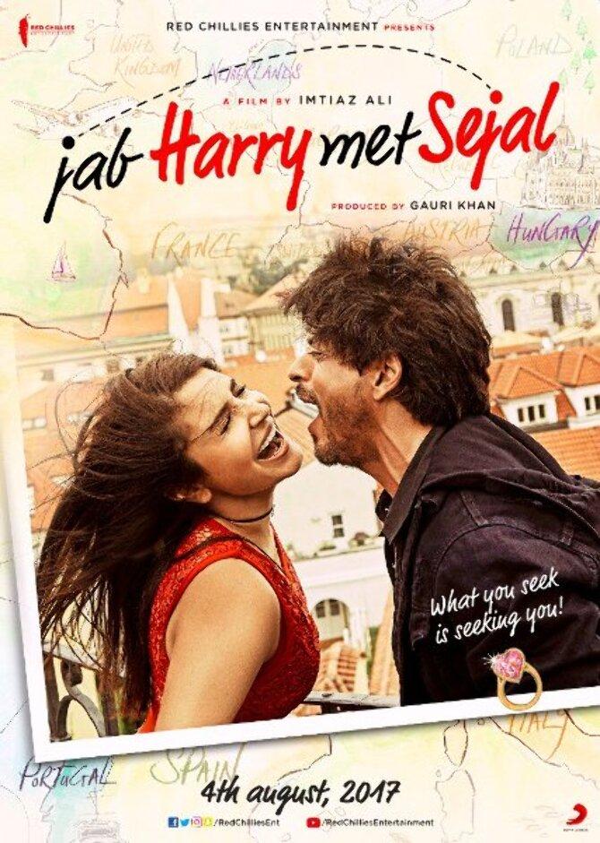 Anushka Sharma    Shah Rukh Khan Jab Harry Met Sejal Movie Poster