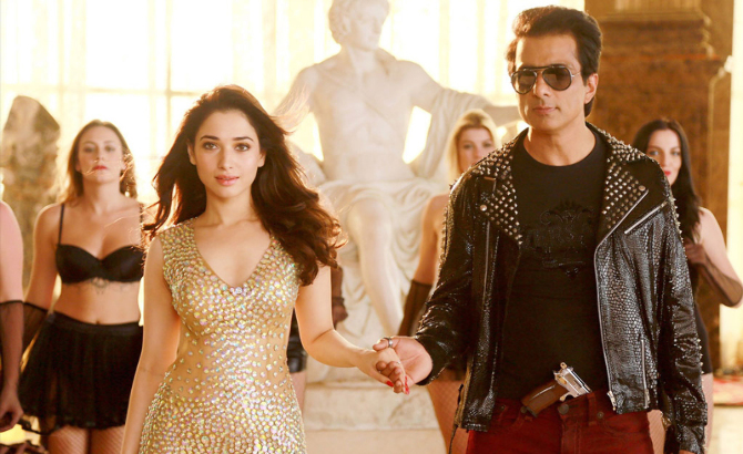 Tamannah Bhatia  Sonu Sood Tutak Tutak Tutiya Movie Song Pic