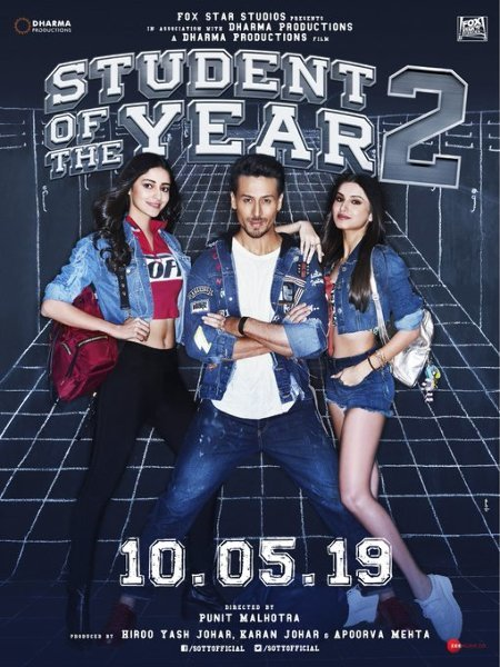 Student of the Year 2 New Poster Tiger Shroff  Ananya Panday and Tara Sutaria