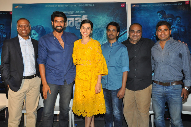 Taapsee Pannu The Ghazi Attack Movie Trailer Launch  18