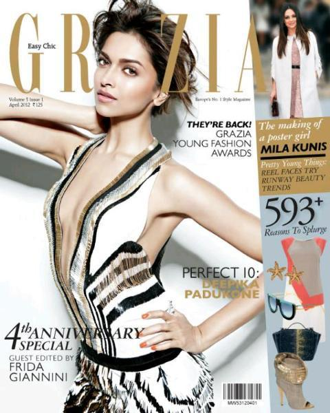 Deepika Padukone Grazia April 2012 Cover Page Photo