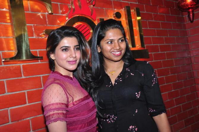 samantha ruth prabhu launches kona neeraja s t grill restaurant at madhapur-photo54