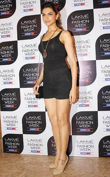 Actress Deepika Padukone at the Lakme Fashion Week 2011.