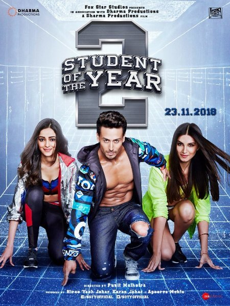TIGERSHROFF Tara  Ananya Student of the Year 2 Movie Poster