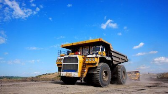 stock footage mining dump trucks in the open pit mine
