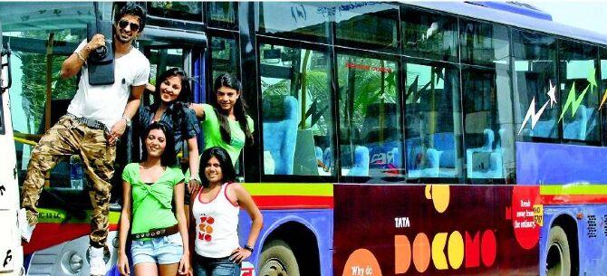 In the TATA DOCOMO Bus