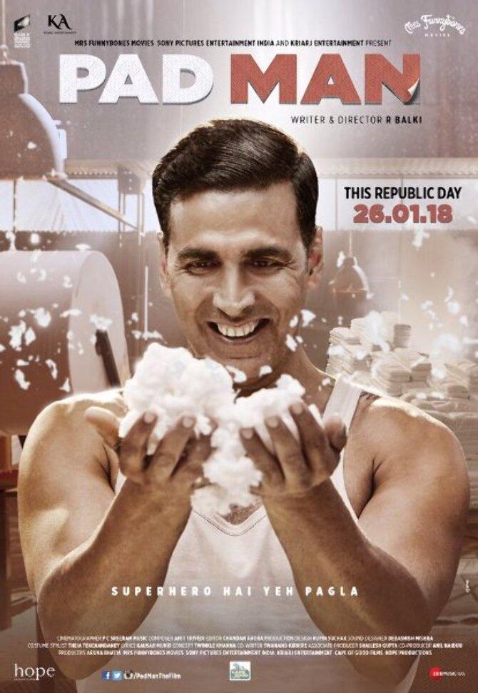 Akshay Kumar Padman Movie Latest Poster