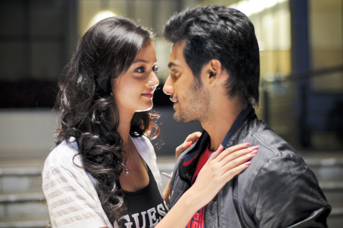 Aadhi and Shanvi Lovely Telugu Film Stills