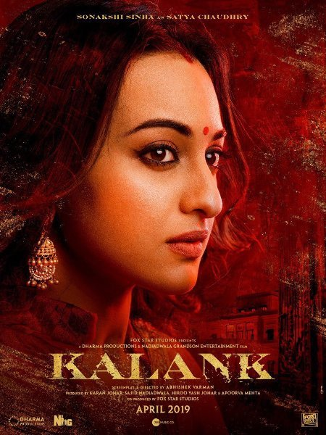 Sonakshi Sinha KALANK Movie Poster First Look