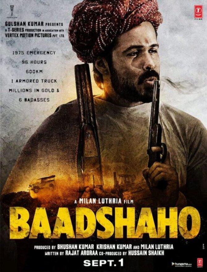 Emraan Hashmi Baadshaho Movie Poster