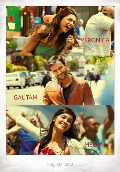 Deepika Padukone  Saif Ali Khan  Diana Penty Cocktail Movie Poster