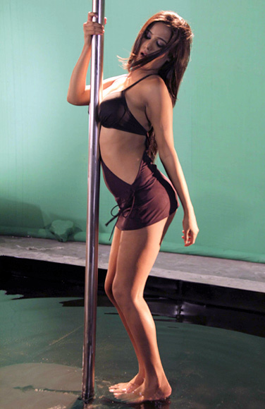 Poonam Pandey Pole Dance for Nasha Movie Promotion Pic