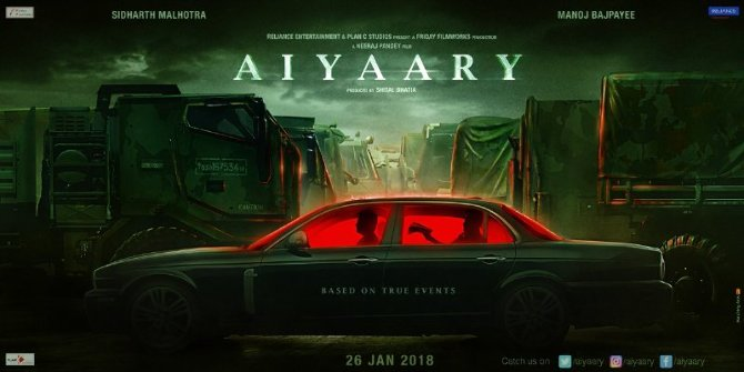Aiyaary Movie Motion Poster first Look