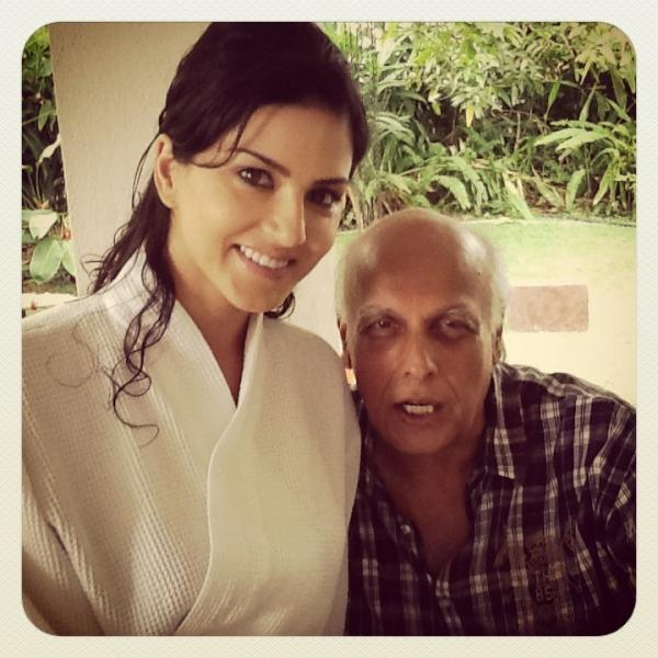 Sunny Leone and Mahesh Bhatt Jism 2 on Sets Photo