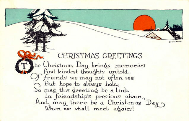 Merry Christmas Greetings Poem