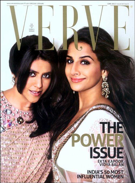 Vidya Balan and Ekta Kappor Verve Magazine June 2012 Cover Page Photo