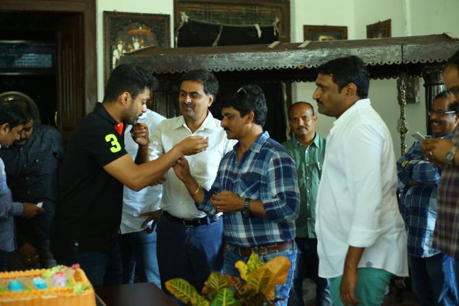 Nandamuri Kalyanram Birthday Celebrations on MLA Movie Sets  24