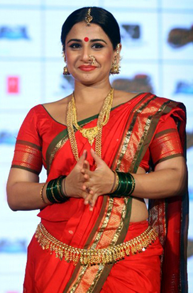 Vidya Balan at the launch of lavani song Mala Jau De from FERRARI KI SAWAARI at Rangsharda Auditorium in Mumbai Photo